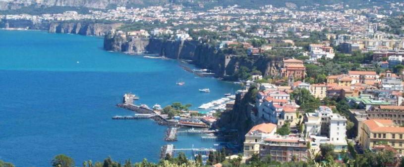 Panorama dall'alto di Sorrento